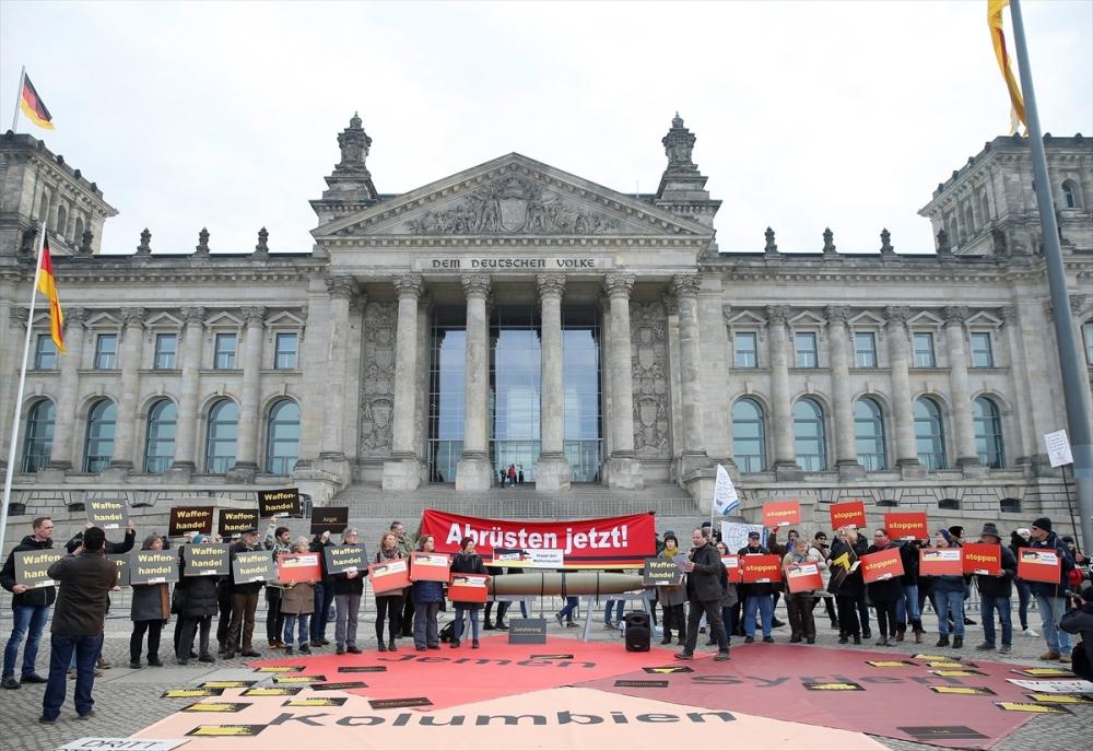 Almanya'nın silah ihracat politikası protesto edildi galerisi resim 2
