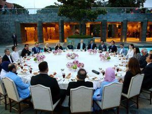 Erdoğan'ın iftarından kareler