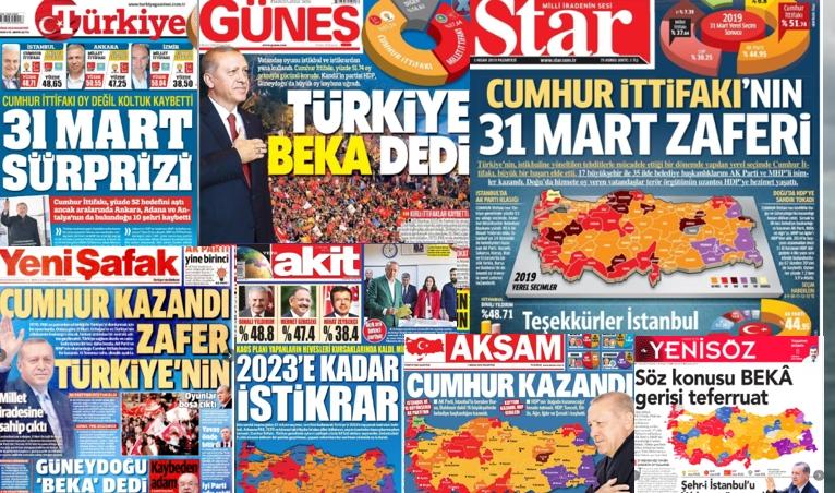 Yandaş gazetelerden İstanbul manşeti skandalı galerisi resim 1
