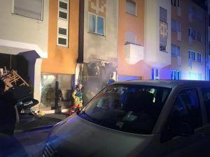 Almanya'da Türklerin oturduğu binada yangın