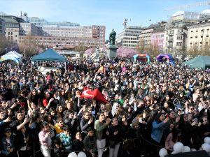 İsveç'te 20 bin kişilik 23 Nisan coşkusu