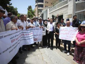 Filistin'den Almanya'ya BDS protestosu