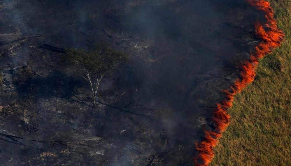 Amazon yangınları uzaydan görüntülendi galerisi resim 1