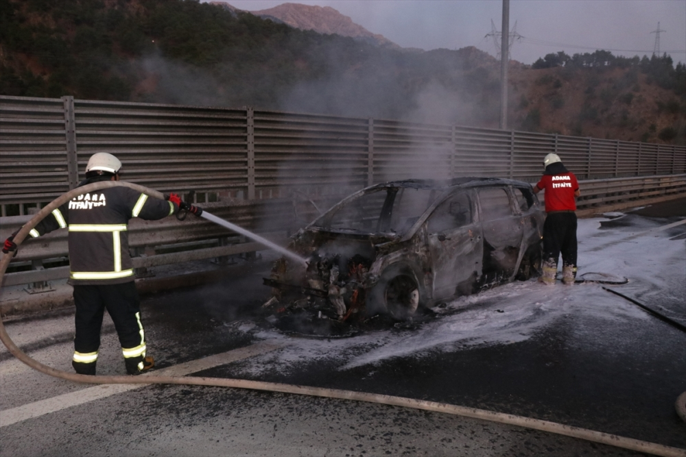 Gurbetçi ailenin otomobili kül oldu galerisi resim 3