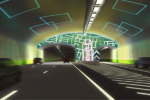 Sanat galerisi gibi karayolu tüneli galerisi resim 2