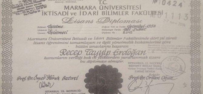 HDP, Erdoğan'ın diploma örneğini paylaştı