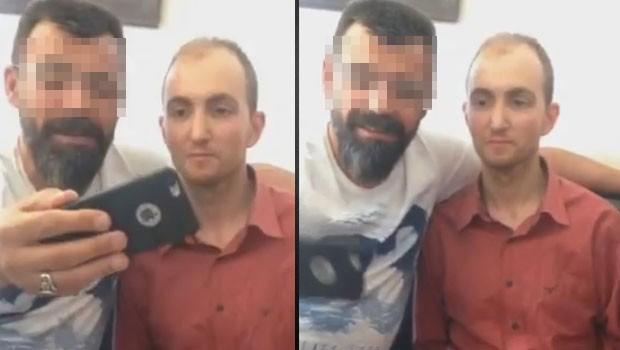 Polisler, seri katille selfie çekti