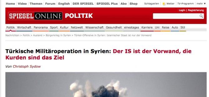 Der Spiegel: Türkiye IŞİD bahanesiyle Kürtlere saldırıyor
