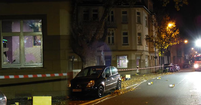 Almanya'da Türk binasına bombalı saldırı