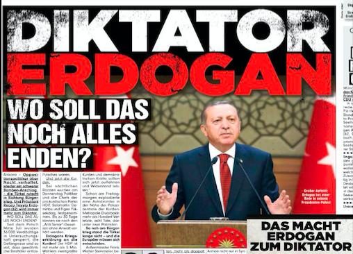 Alman basını: Diktatör Erdoğan