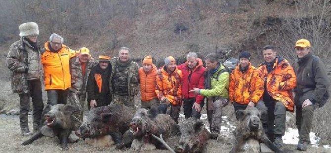 Avrupa'dan Türkiye'ye domuz avına geldiler