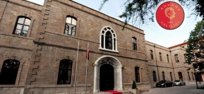 Ankara Valiliği eylem ve gösterileri yasakladı