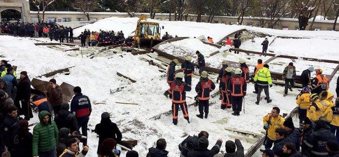 Cenaze namazında tente faciası: 2 ölü, 23 yaralı