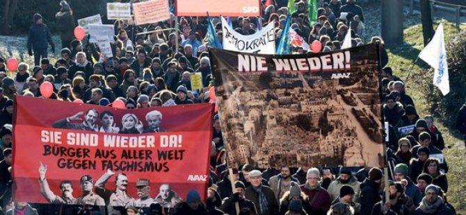 Almanya'da aşırı sağa protesto