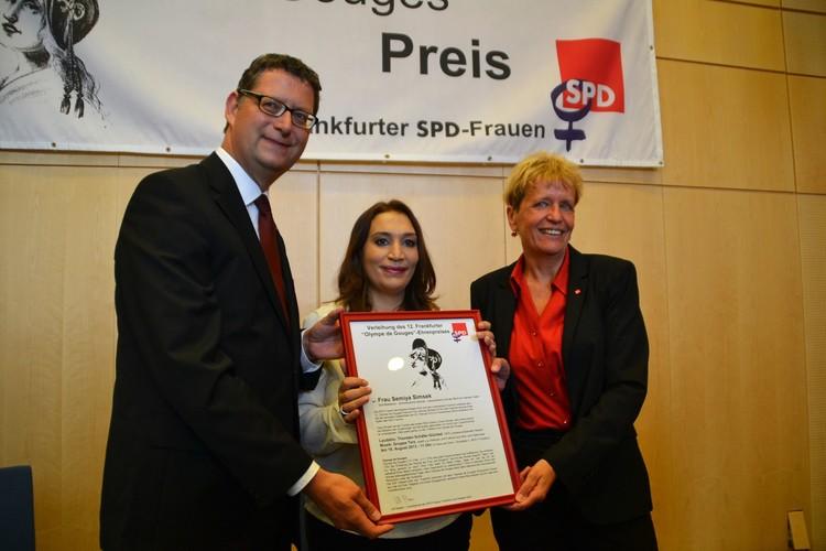 SPD'den Şimşek'e ödül