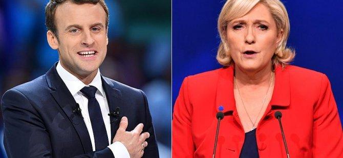 Fransa'da Le Pen ve Macron ikinci tura kaldı