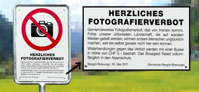 İsviçre'de fotoğraf yasağı