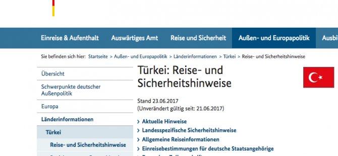 Almanya, Türkiye'ye gidecek vatandaşlarını uyardı