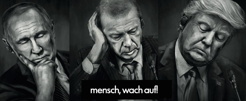 Almanya'da Erdoğan, Putin ve Trump'lı gazoz reklamı