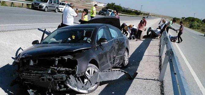 Sıla yolundan ilk kaza haberi geldi