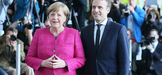 Macron: Merkel'in liderliğinden yanayız