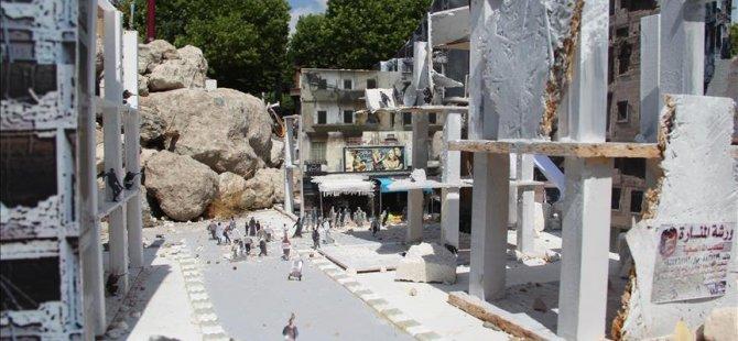 Hollanda'da 'Halep'i Yaşa' minyatür sergisi açıldı