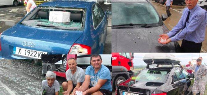 Kapıkule'de gurbetçiyi dolu vurdu