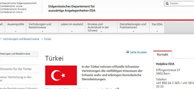 İsviçre: Türkiye'de terör saldırısı ihtimali var