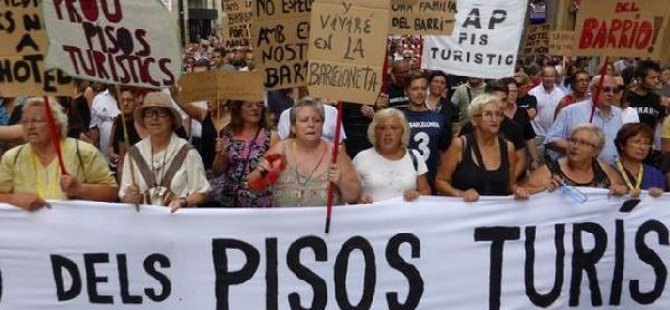 Barselona halkı artık turist istemiyor