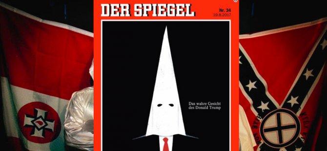 Der Spiegel'den, Ku Klux Klan maskeli Trump kapağı
