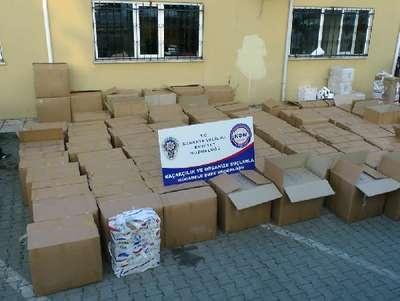 TIR'da 91 bin paket kaçak sigara ele geçirildi