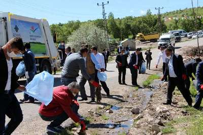 Köyde temizlik kampanyası