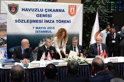 TSK'nın Havuzlu Çıkarma Gemisi Proje sözleşmesi imzalandı