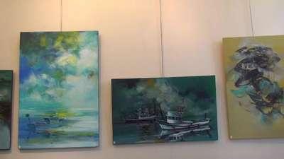 Trabzonlu ressam Paris'te sergi açtı
