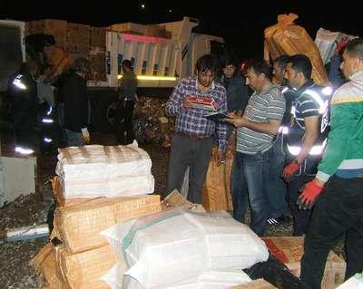 Atık kağıtlar arasında 150 bin paket kaçak sigara