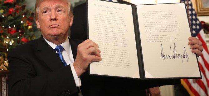 Trump: Kudüs'ü İsrail'in başkenti olarak tanıyoruz