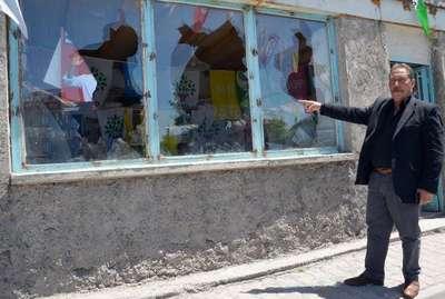 Kayseri'de HDP seçim bürosuna taşlı saldırı