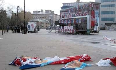Zabıtadan CHP'ye şafakta 'Bayrak' oporasyonu