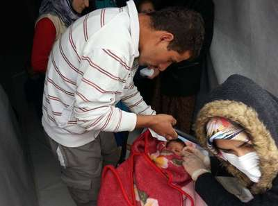 İslahiye'de 7 bin 500 Suriyeli çocuk aşılandı