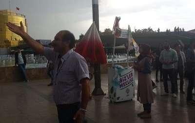 Aydın'da HDP standı önünde tekme ve yumruklu kavga