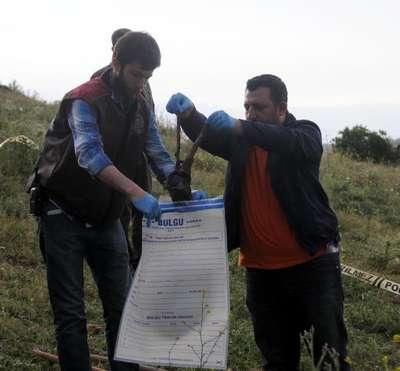 Gaziantep'te arazide insan kemiği bulundu