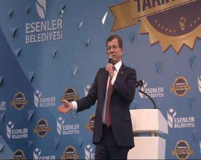 Başbakan Davutoğlu Esenler'de konuştu