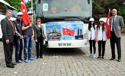 Gaziantep'te polisten öğrencilere Çanakkale gezisi