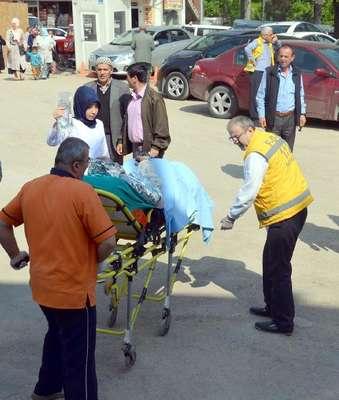 Sobanın parlaması sonucu ağır yaralandı