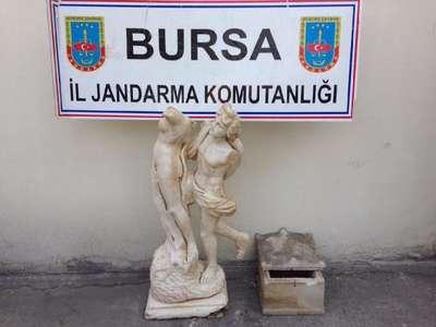Mudanya'da tarihi eser operasyonu