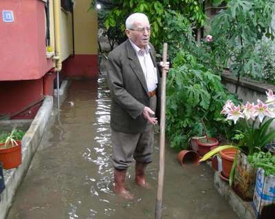 Aydın'da, sağanak yağmur ve dolu