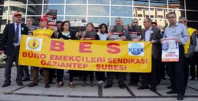 Gaziantep'te iş cinayetlerini iş bırakarak protesto ettiler