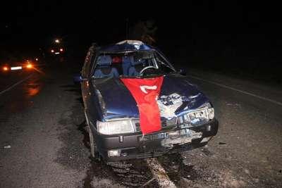 Otomobil ineğe çarptı: 4 yaralı