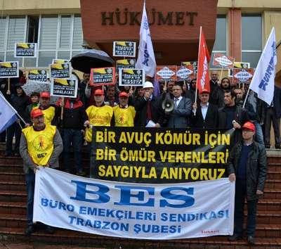 Trabzon'da Soma eylemi: Kaza değil cinayet, kader değil katliam