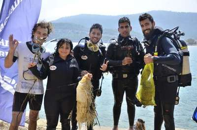 Akdeniz'i temizlediler